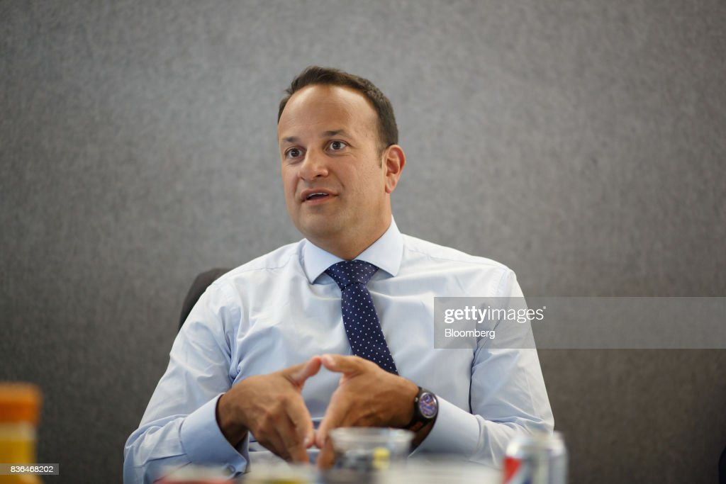 Leo Varadkar, Ireland's prime minister, speaks during an interview in Toronto, Ontario, Canada on Aug. 21, 2017. Varadkar said he remains 'confused and puzzled' about the U.K.'s global trading plans after Brexit, as the clock ticks down in talks on the terms of Britain's exit from the European Union. Photographer: Cole Burston/Bloomberg via Getty Images