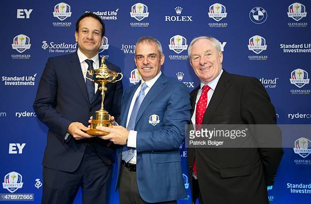Leo Varadkar Minister for Transport Tourism and Sport Paul McGinley European Ryder Cup Captain and Michael Ring Minister of State for Tourism and...