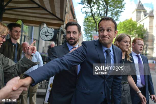 Leo Varadkar on his way to the Mansion House in Dublin where he was elected the new leader of Fine Gael and on course to become Irelands first gay...