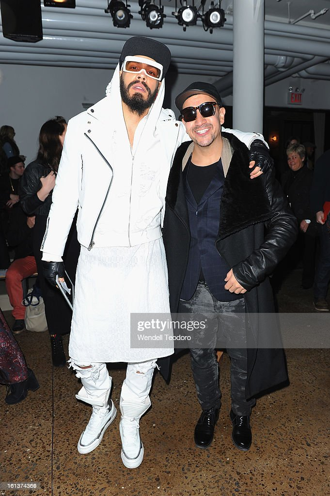 Leo Velasquez and Sneaker Steve attend Hood by Air during Fall 2013 MADE Fashion Week on February 10, 2013 in New York City.