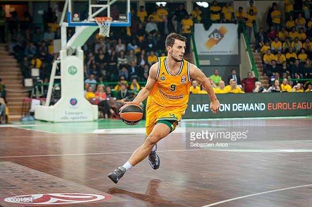 Leo Westermann #9 of Limoges CSP in action during the Turkish Airlines Euroleague Basketball Regular Season Date 1 game Limoges CSP v Anadolu Efes...