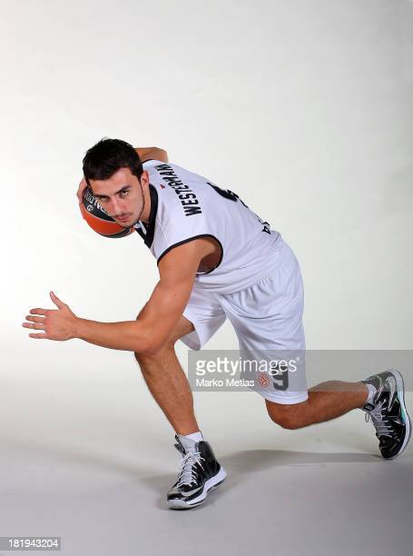 Leo Westermann of Partizan NIS Belgrad during the Partizan NIS Belgrad 2013/14 Turkish Airlines Euroleague Basketball Media Day session at Pionir on...