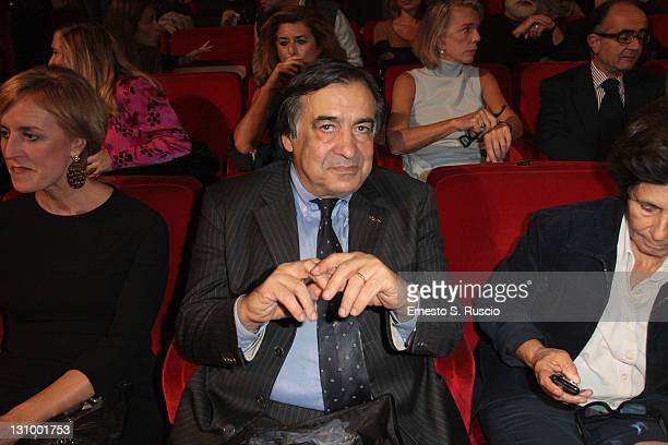 Leoluca Orlando attends the 'Pina' QA during the 6th International Rome Film Festival on October 31 2011 in Rome Italy