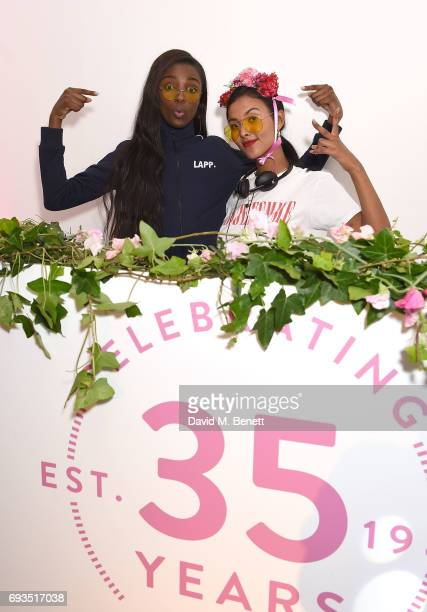 Leomie Anderson and Maya Jama at the Barry M 35th Anniversary event at The OXO Tower on June 7 2017 in London England