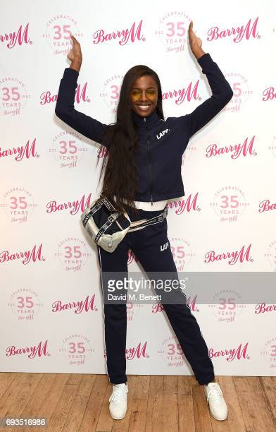 Leomie Anderson attends the Barry M 35th Anniversary event at The OXO Tower on June 7 2017 in London England