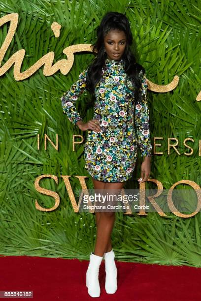 Leomie Anderson attends the Fashion Awards 2017 In Partnership With Swarovski at Royal Albert Hall on December 4 2017 in London England