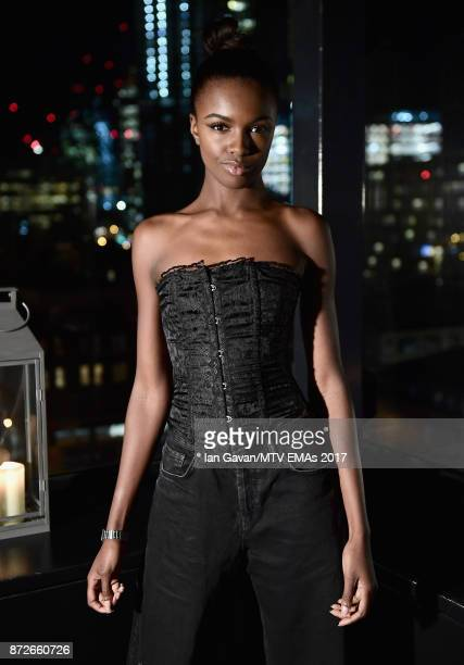 Leomie Anderson attends the It Girls and MTV EMA Correspondents Dinner held at The Ace Hotel ahead of the MTV EMAs 2017 on November 10 2017 in London...