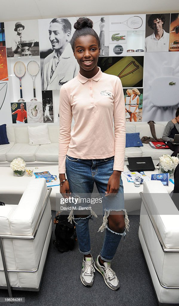Leomie Anderson attends the Lacoste VIP lounge during day eight of the ATP World Finals at the O2 Arena on November 12, 2012 in London, England.