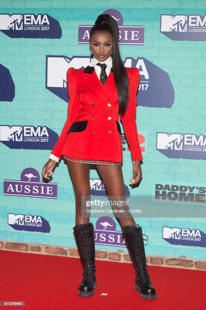 Leomie Anderson attends the MTV EMAs 2017 at The SSE Arena, Wembley on November 12, 2017 in London, England.