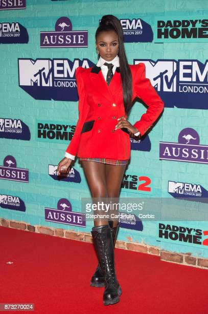 Leomie Anderson attends the MTV EMAs 2017 at The SSE Arena Wembley on November 12 2017 in London England