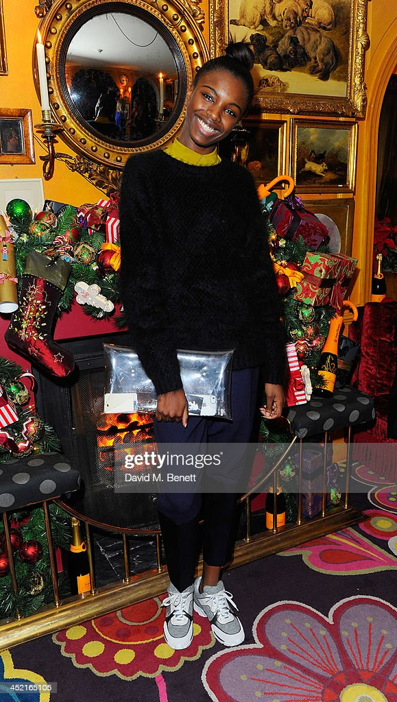Leomie Anderson attends Veuve Clicquot Style Party at Annabel's on November 26, 2013 in London, England.