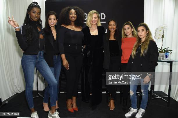 Leomie Anderson Heather Shimokawa Jazzmine Carthon Allie Kaplan and Lexi Kaplan join Khloe Kardashian and Emma Grede as they celebrate the launch of...