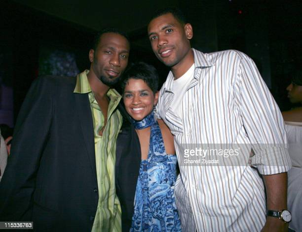 Leon Allan Houston and Tammy Houston during Allen Houston Retirement Party at Supper Club in New York City New York United States