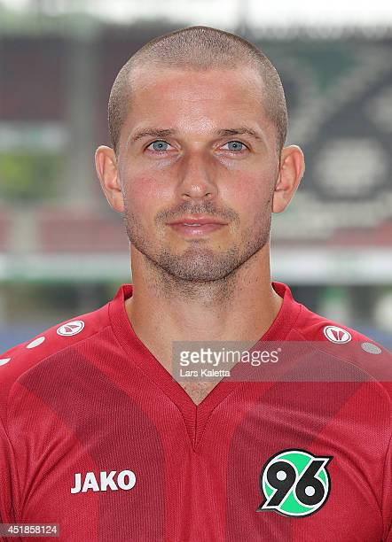 Leon Andreasen poses during the team presentation at HDIArena on July 8 2014 in Hanover Germany