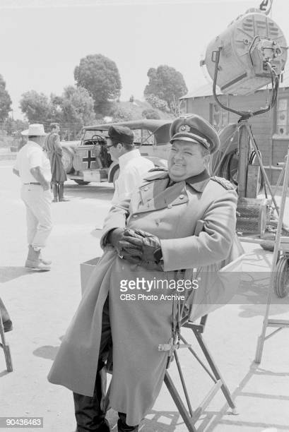 HEROES Leon Askin as General der Infanterie Albert Burkhalter in between scenes of A Klink A Bomb And A Short Fuse an episode from CBS' comedy...
