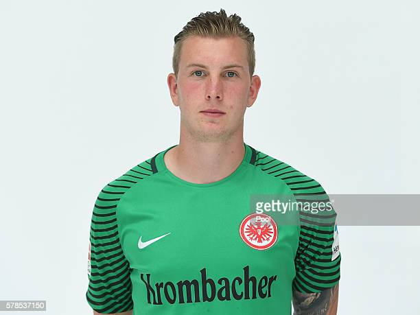 Leon Baetge poses during the Eintracht Frankfurt Team Presentation on July 21 2016 in Frankfurt am Main Germany