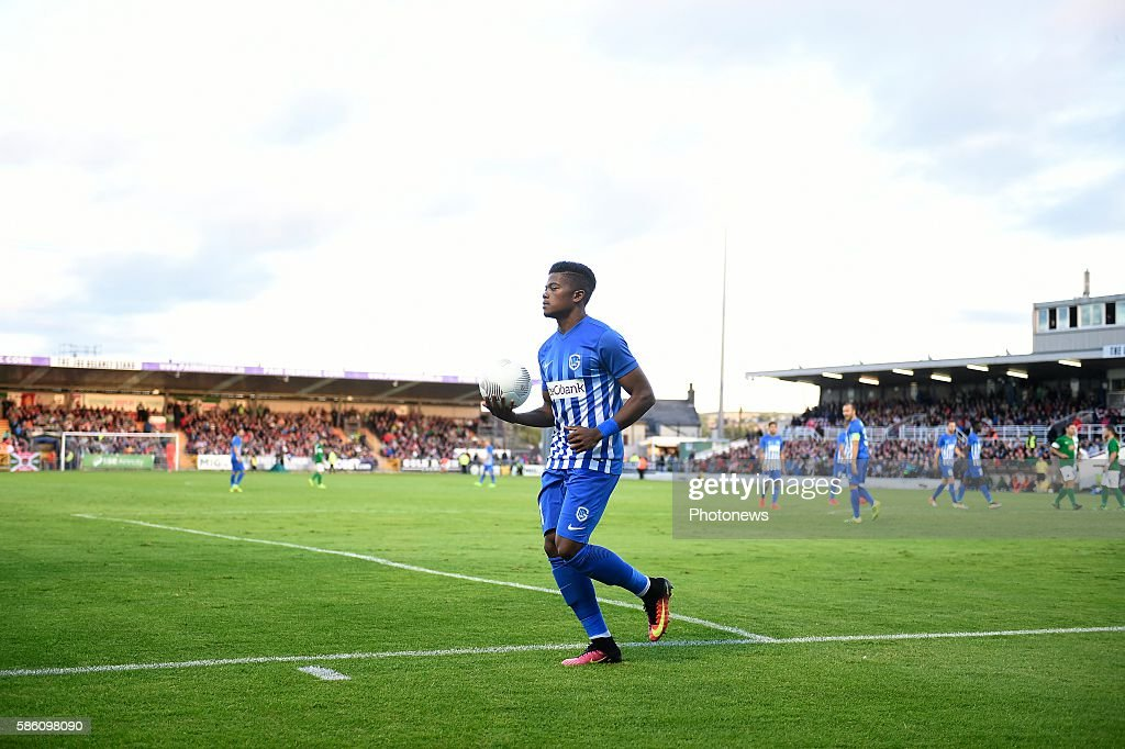 Leon Bailey forward of Krc Genk pictured during UEFA Europa League third qualifying round 2nd Leg match between Cork City FC and KRC Genk on August 4...