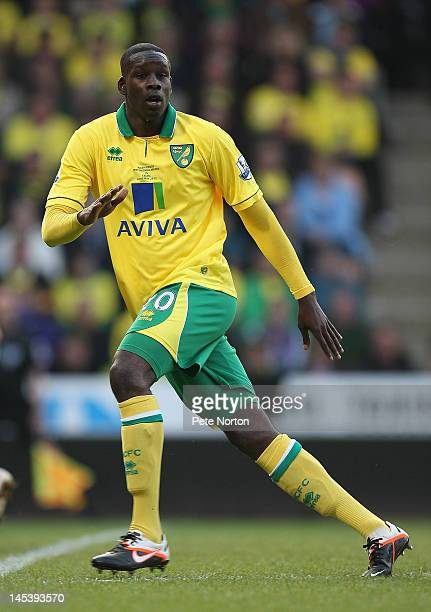 Leon Barnett of Norwich City in action during the Adam Drury Testimonial Match between Norwich City and Celtic at Carrow Road on May 22 2012 in...