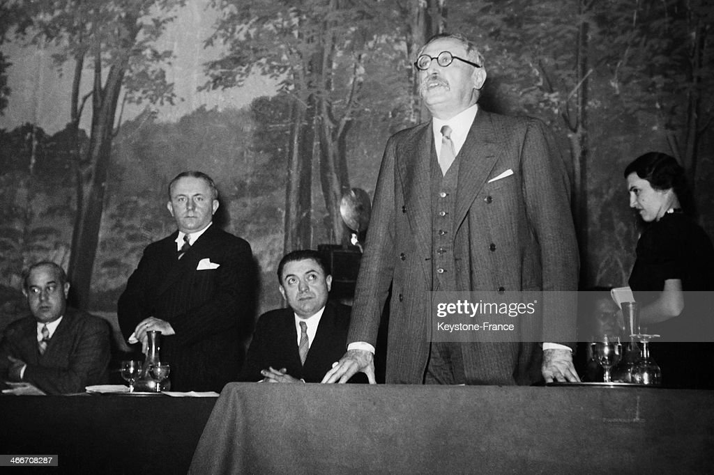Leon Blum held a speach during french Socialist national Concil in Paris ,on November 9 , 1936 .