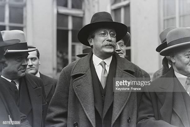 Leon Blum leavs the Dominique street in Paris France circa 1930