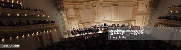 Leon Botstein leading the American Symphony Orchestra at Carnegie Hall on Thursday night October 3 2013This imageLeon Botstein leading the American...