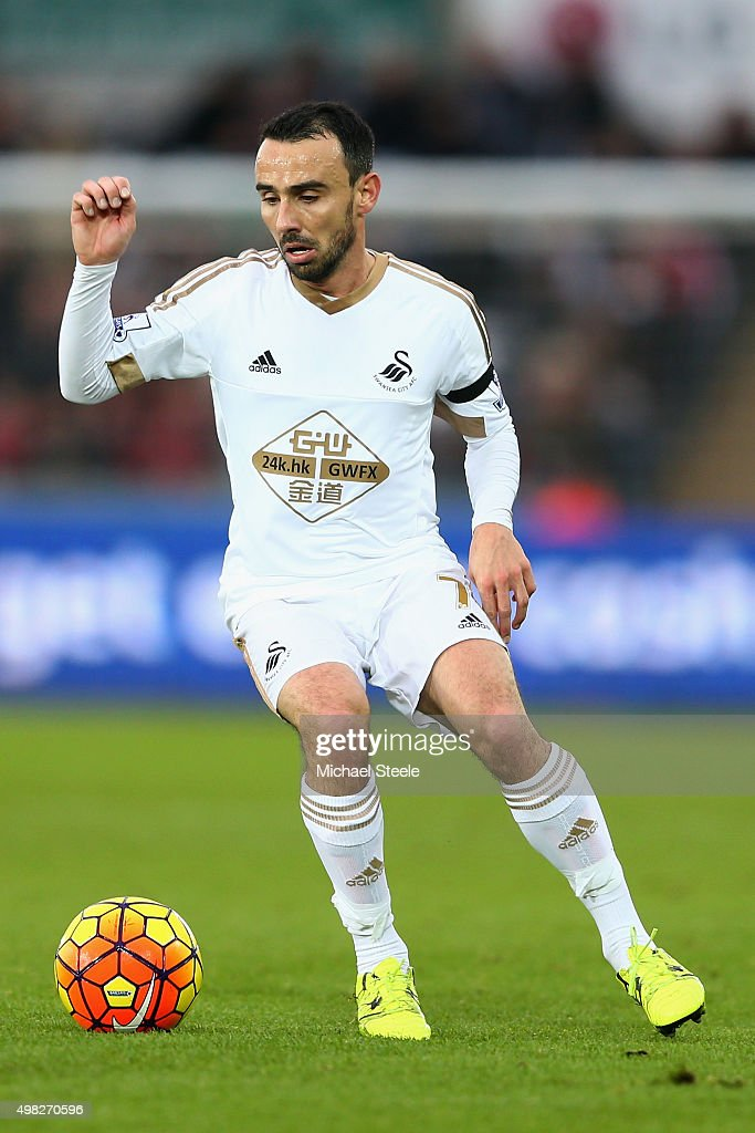 Leon Britton of Swansea City during the Barclays Premier League match between Swansea City and Bournemouth at the Liberty Stadium on November 21 2015...