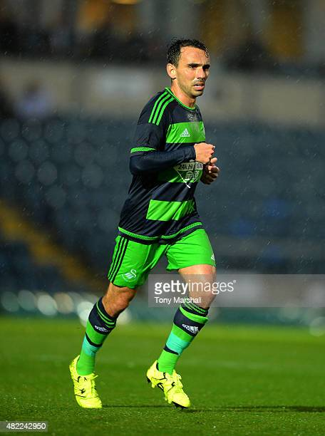 Leon Britton of Swansea City during the Pre Season Friendly match between Reading and Swansea City at Adams Park on July 24 2015 in High Wycombe...