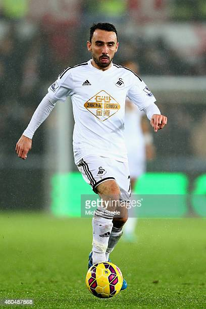 Leon Britton of Swansea during the Barclays Premier League match between Swansea City and Tottenham Hotspur at the Liberty Stadium on December 14...
