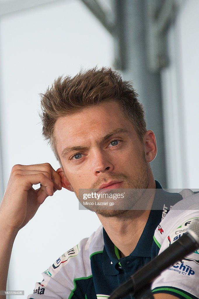 Leon Camier of Great Britain and Crescent Fixi Suzuki looks on during the press conference for the launch of the 2013 World SBK and World Supersport season at Phillip Island Grand Prix Circuit on February 21, 2013 in Phillip Island, Australia.