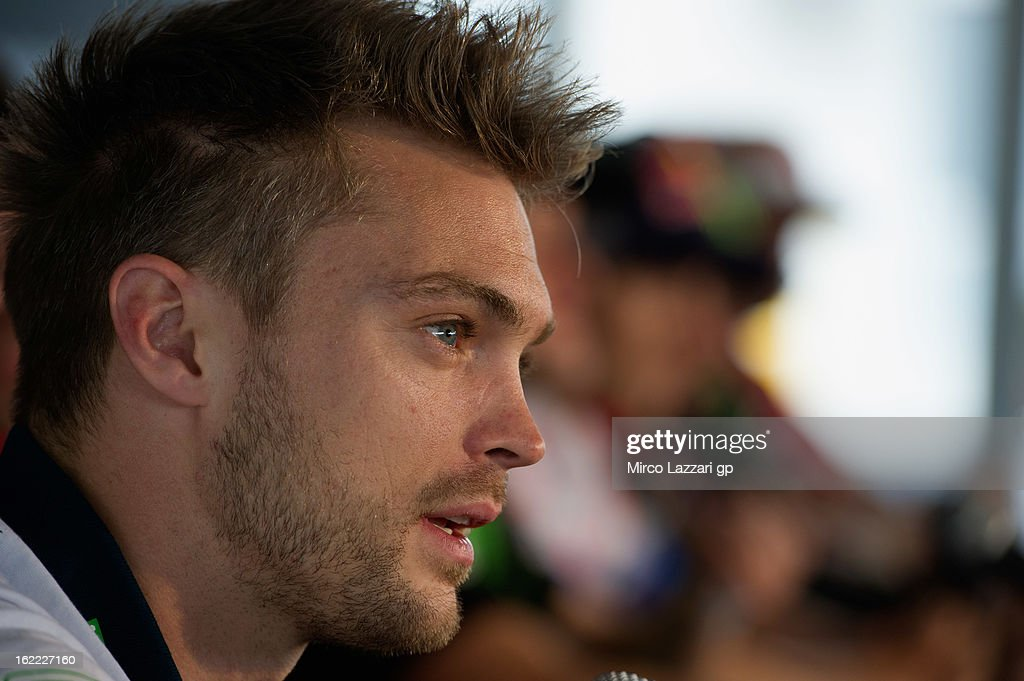 Leon Camier of Great Britain and Crescent Fixi Suzuki speaks during the press conference for the launch of the 2013 World SBK and World Supersport season at Phillip Island Grand Prix Circuit on February 21, 2013 in Phillip Island, Australia.