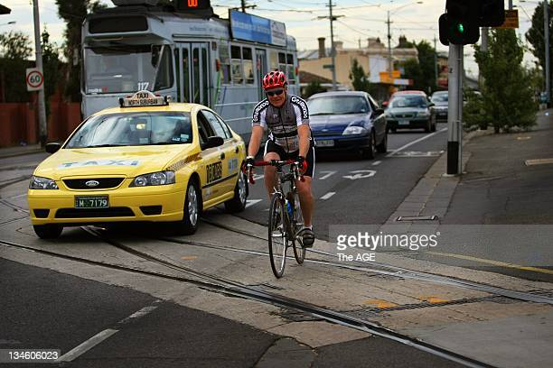 Leon Cassidy not happy with conditions for cyclists on Mount Alexander Road 22 January 2010