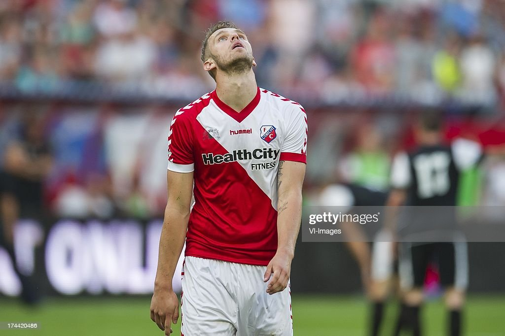 Leon de Kogel of FC Utrecht during the Europa League second qualifying round match between FC Utrecht and FC Differdange on July 25, 2013 in Utrecht, The Netherlands.
