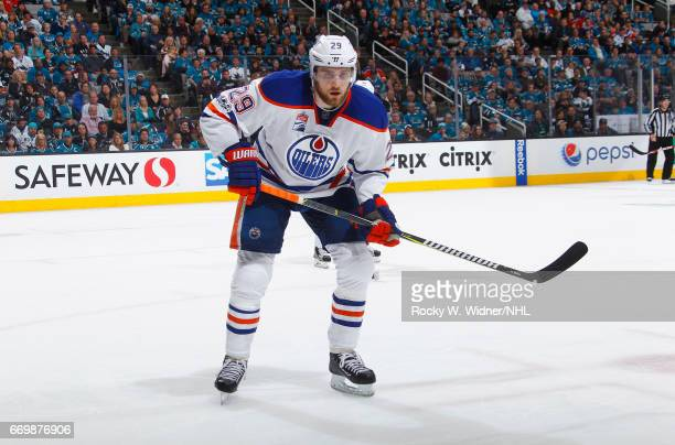Leon Draisaitl of the Edmonton Oilers skates against the San Jose Sharks in Game Three of the Western Conference First Round during the 2017 NHL...