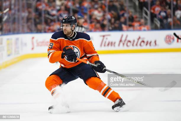 Leon Draisaitl of the Edmonton Oilers skates against the Winnipeg Jets at Rogers Place on October 9 2017 in Edmonton Canada