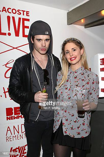 Leon Else and Laurel ArnellCullen attend the Lacoste Lve Tee Party Introducing The Artist Series Collaboration Project at Shoreditch House on March 6...