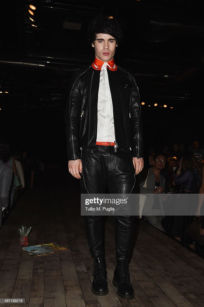 Leon Else attends DSquared2 show during Milan Menswear Fashion Week Spring Summer 2015 on June 24, 2014 in Milan, Italy.