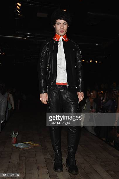 Leon Else attends DSquared2 show during Milan Menswear Fashion Week Spring Summer 2015 on June 24 2014 in Milan Italy