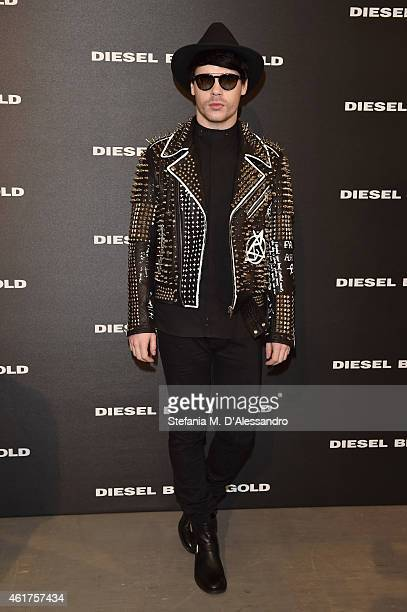 Leon Else attends the Diesel Black Gold show during the Milan Menswear Fashion Week Fall Winter 2015/2016 part of on January 19 2015 in Milan Italy