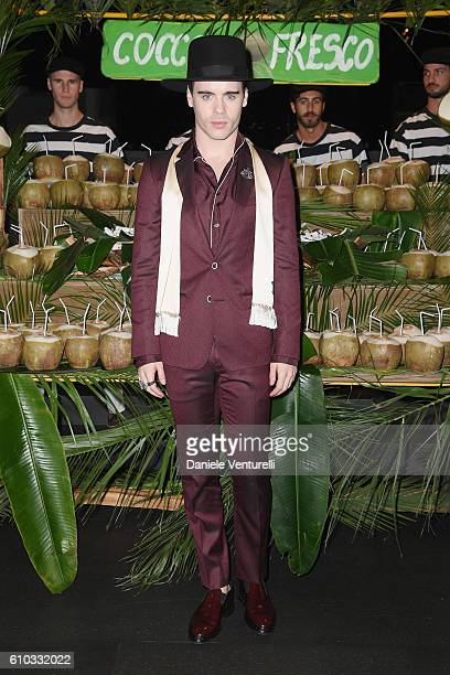 Leon Else attends the Dolce And Gabbana show during Milan Fashion Week Spring/Summer 2017 on September 25 2016 in Milan Italy