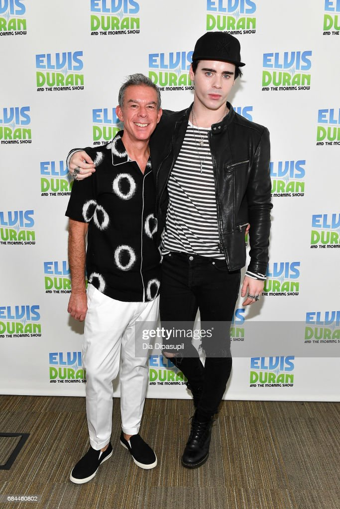Leon Else (R) poses with Elvis Duran during his visit to 'The Elvis Duran Z100 Morning Show' at Z100 Studio on May 18, 2017 in New York City.