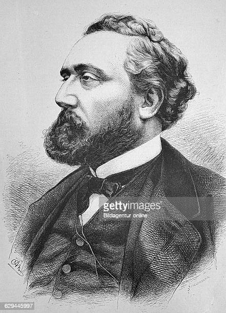 Leon gambetta 18381882 french statesman of the third republic historic wood engraving ca 1880