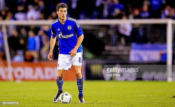 Leon Goretzka of FC Schalke 04 in action during the match against the Fort Lauderdale Strikers at the ESPN Wide World of Sports Complex on January 10...