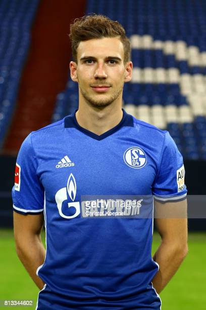 Leon Goretzka of FC Schalke 04 poses during the team presentation at Veltins Arena on July 12 2017 in Gelsenkirchen Germany