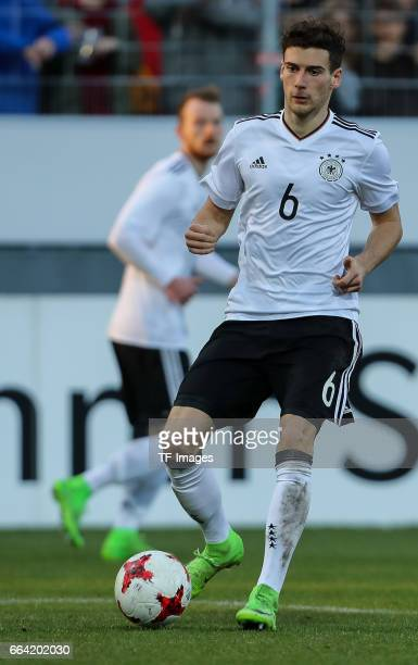 Leon Goretzka of Germany controls the ball during the International Friendly match between Germany U21 and Portugal U21 at GaziStadion on March 28...