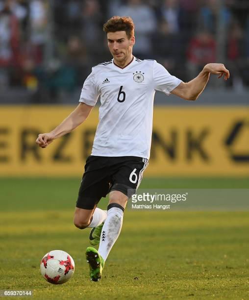 Leon Goretzka of Germany controls the ball during the U21 International Friendly match between Germany U21 and Portugal U21 at GaziStadion auf der...