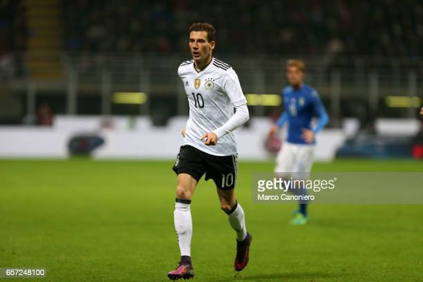 Leon Goretzka of Germany during the International friendly match between Italy and Germany at Giuseppe Meazza Stadium