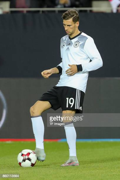 Leon Goretzka of Germany in action during the FIFA 2018 World Cup Qualifier between Germany and Azerbaijan at FritzWalter Stadium on October 8 2017...