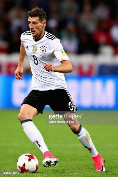 Leon Goretzka of Germany in action during the FIFA Confederations Cup Russia 2017 Group B match between Germany and Chile at Kazan Arena on June 22...