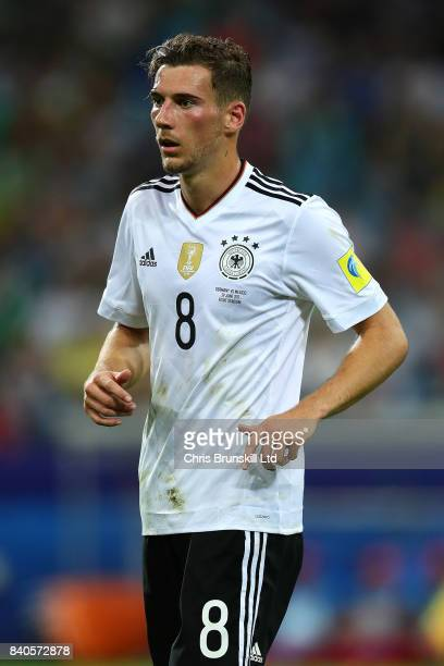 Leon Goretzka of Germany in action during the FIFA Confederations Cup Russia 2017 SemiFinal between Germany and Mexico at Fisht Olympic Stadium on...