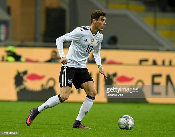 Leon Goretzka of Germany in action during the International Friendly Match between Italy and Germany at Giuseppe Meazza Stadium on November 15 2016...